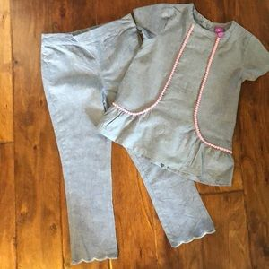 Girls J Khaki size 6 outfit top and pants